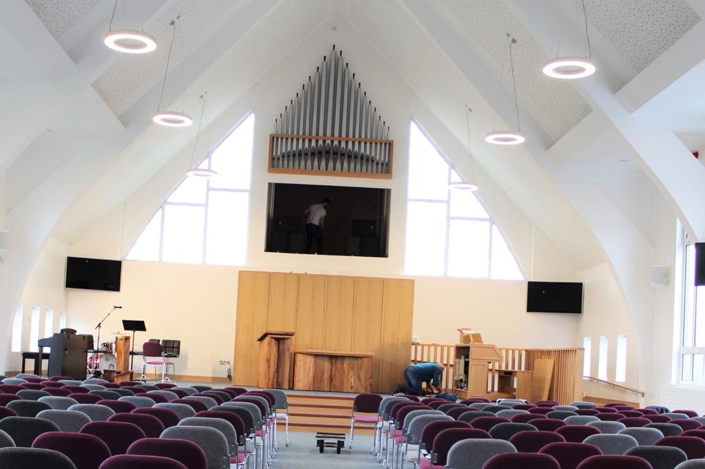 Church renovation bespoke joinery